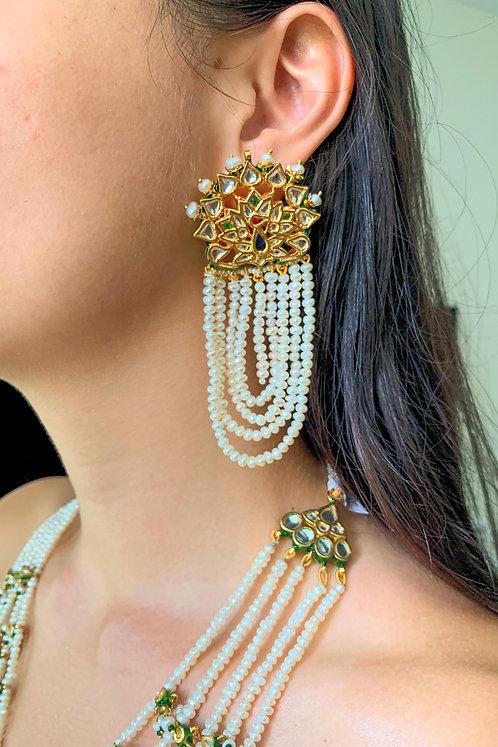 Peacock Kundan Earrings