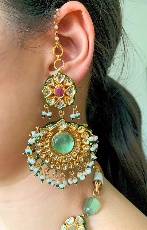 Kundan Taara Earrings