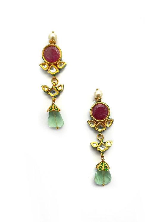 Sakhee Kundan Earrings