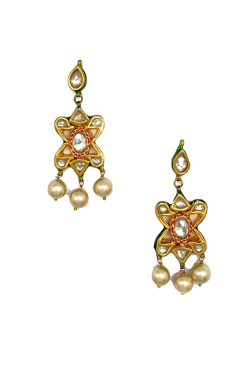 Star Polkhi Cut Earrings