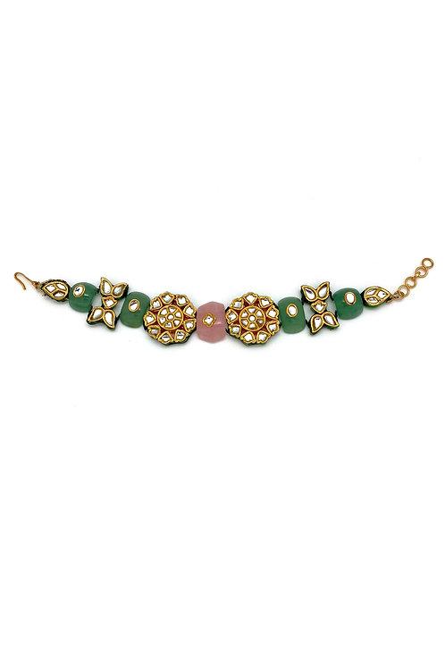 Dawn Rose Kundan Bracelet