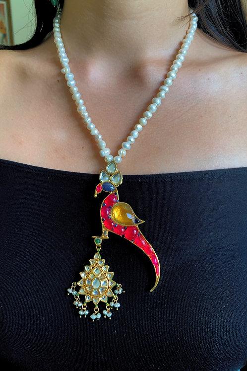 Kundan Parrot Necklace