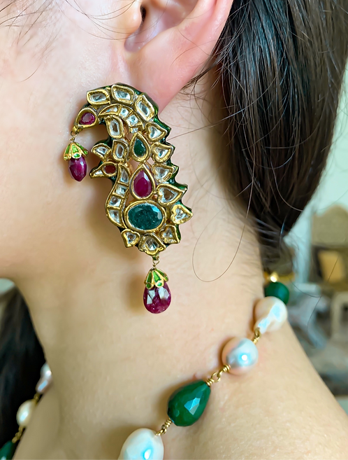 Kundan Kalgi Earrings