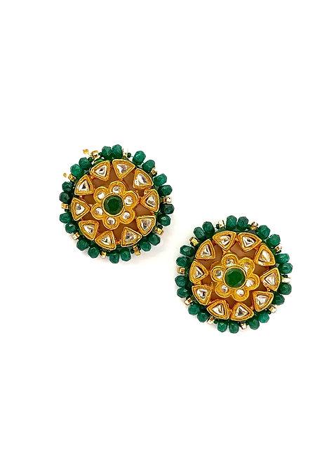 Emerald Green Kundan Tops