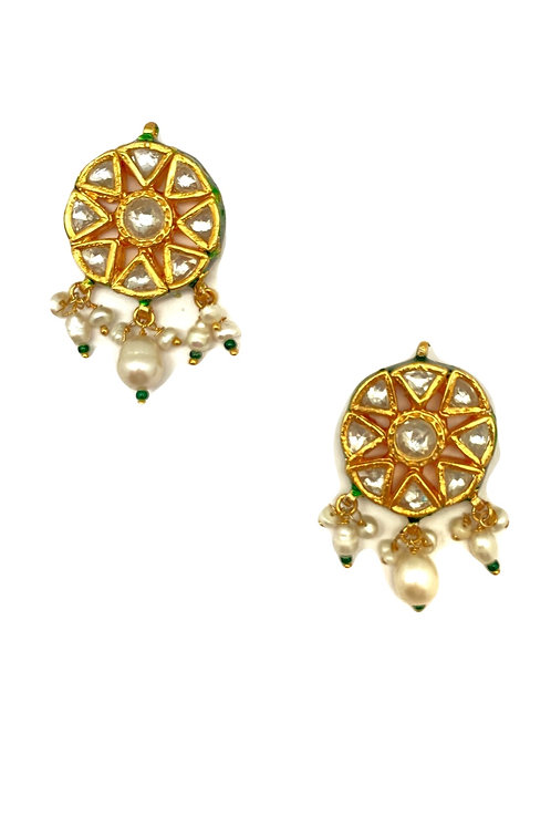 Radiant Polkhi Cut Earrings