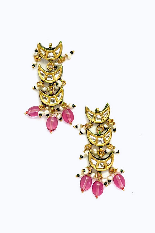 Triple Chaand Earrings
