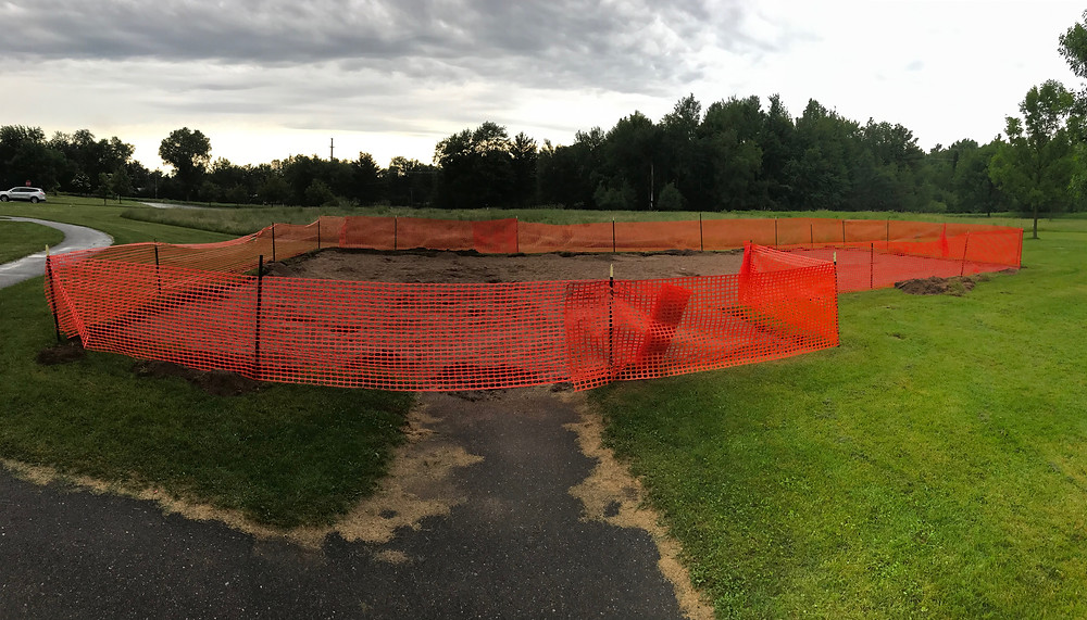 The old playground is gone!