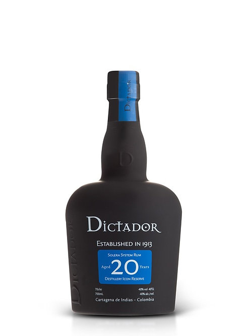 Rhum Dictador 20 ans 40% 70cl