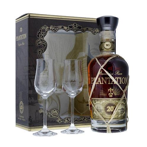 Coffret Plantation Barvades XO + 2 verres, 70cl, 40%