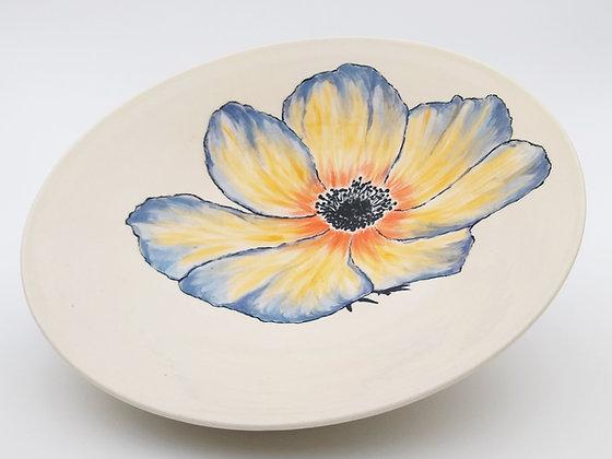 Poppy flower serving bowl