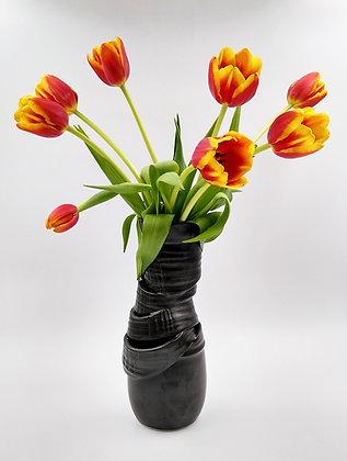 Deconstructed black Vase