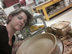Huge platter in the studio