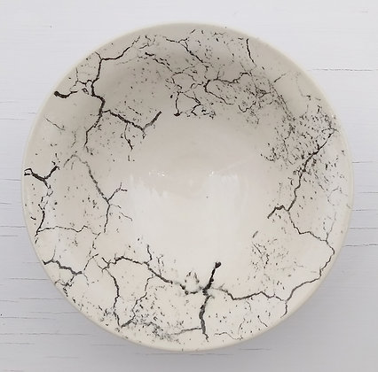 Round Cracked Earth Bowl
