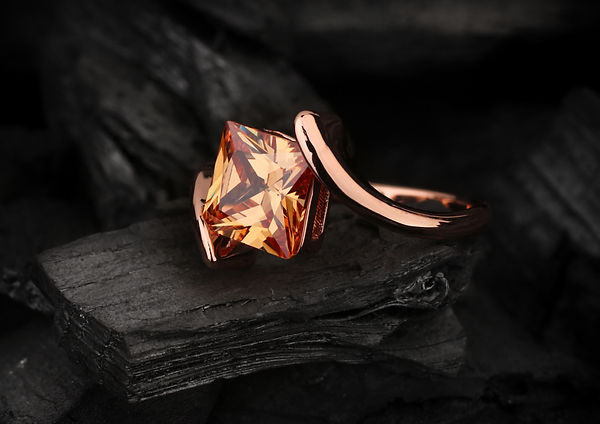 Custom Imperial Topaz Ring by ALKU Modern Jewelers