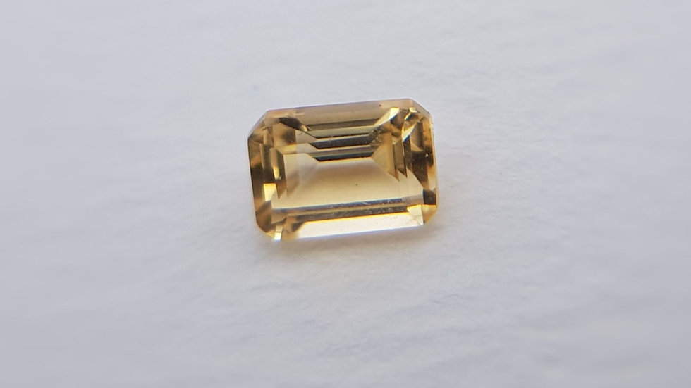 Emerald Cut Yellow Topaz 0.64 ct