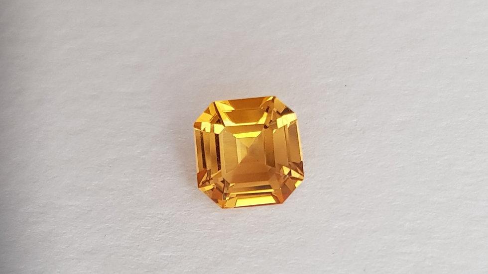 2.13 ct Asscher Cut Golden Topaz