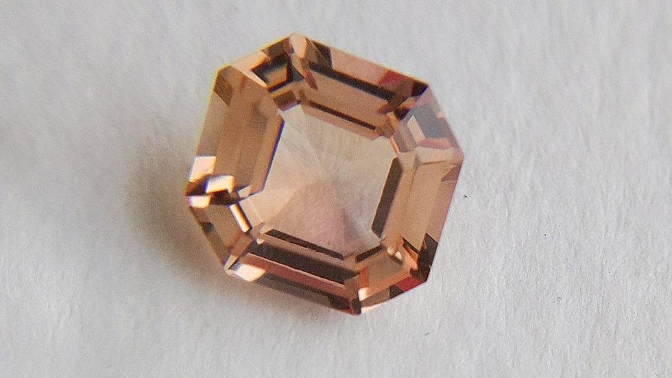 1.42 ct Asscher Cut Pinkish Golden Topaz