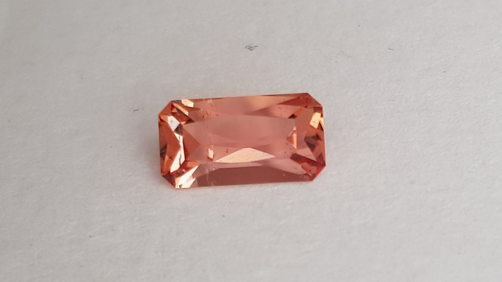Emerald Cut Pink Topaz 2.64 cts