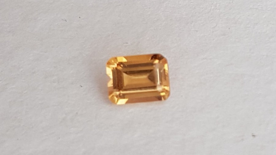 0.33 Emerald Cut Golden Topaz