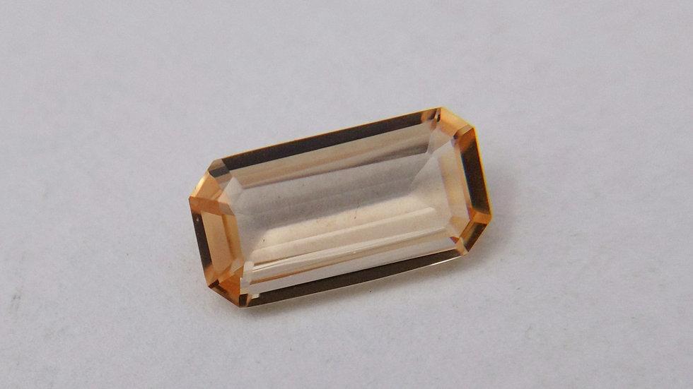 2.21 ct Emerald Cut Golden Topaz