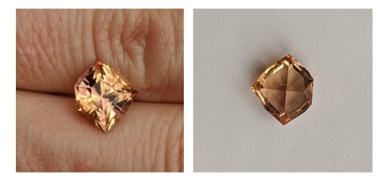 Precision cut imperial topaz untreated, natural gemstone