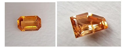 Untreated Imperial Topaz from Brazil, with natural inclusions