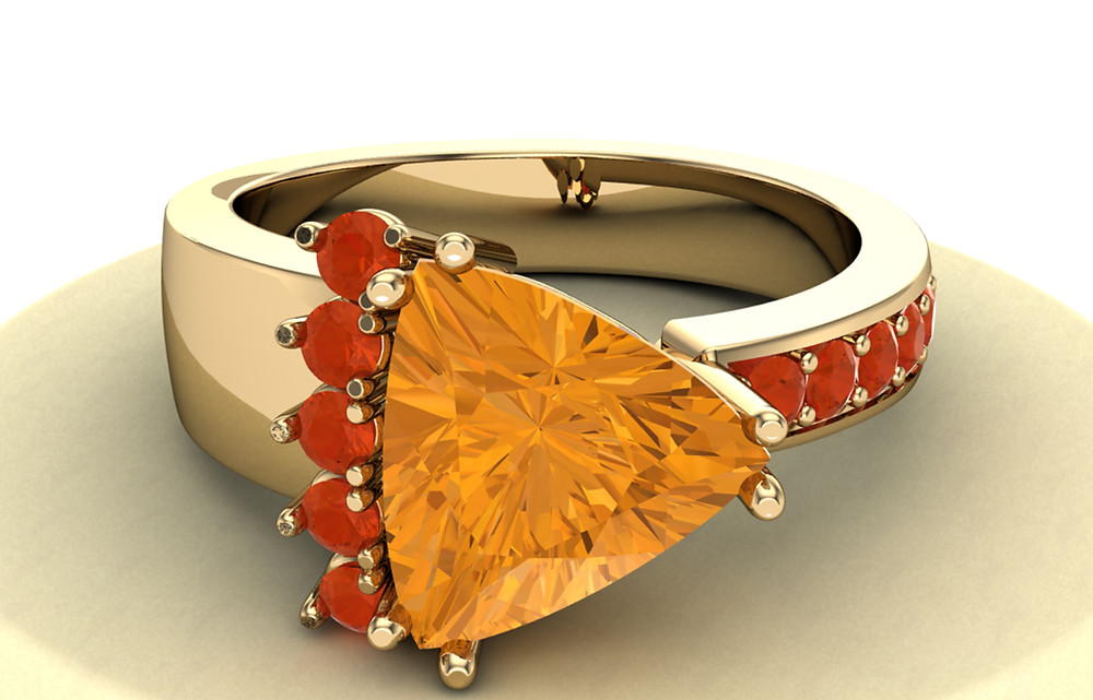 Citrine November Birthstone Ring
