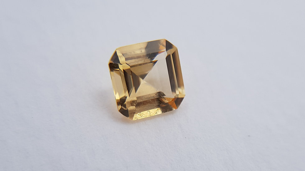 Asscher Cut Golden Topaz 1.54 ct