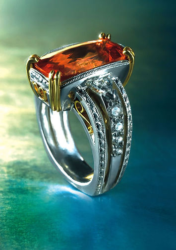 imperial topz ring custom made by aronstam jewelers