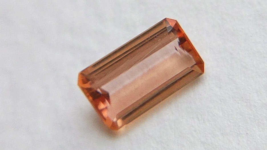 0.69 ct Emerald Cut Pink Topaz