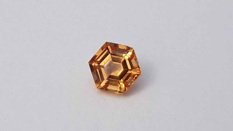 SOLD -Step Cut Hexagon Imperial Topaz 1.33 ct