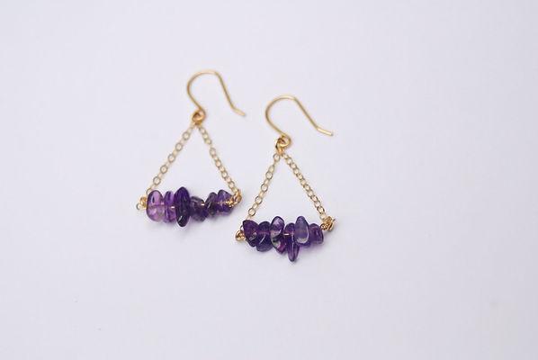 Amethyst birthstone earrings by BangUp Betty