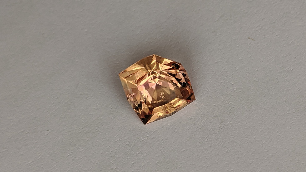3.28 ct Imperial Topaz, Precision Cut Shield