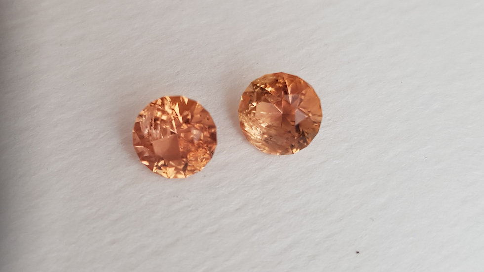Imperial Topaz Matched Pair 7mm Rounds 4.09 tcw