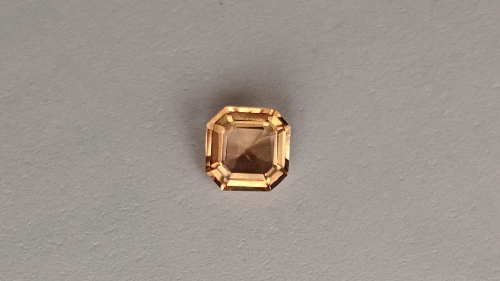 0.92 Golden Topaz Asscher Cut