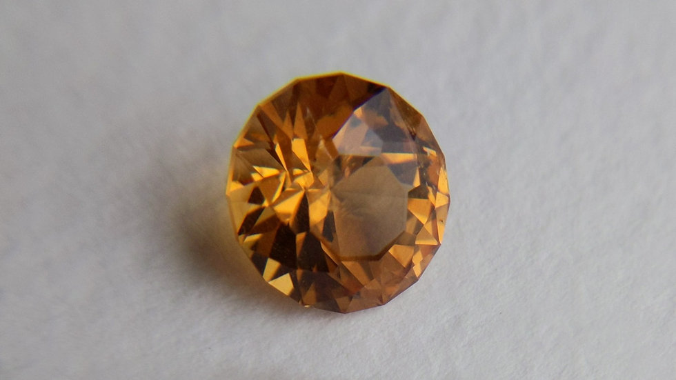 3.82 ct Precision Cut Round Imperial Topaz