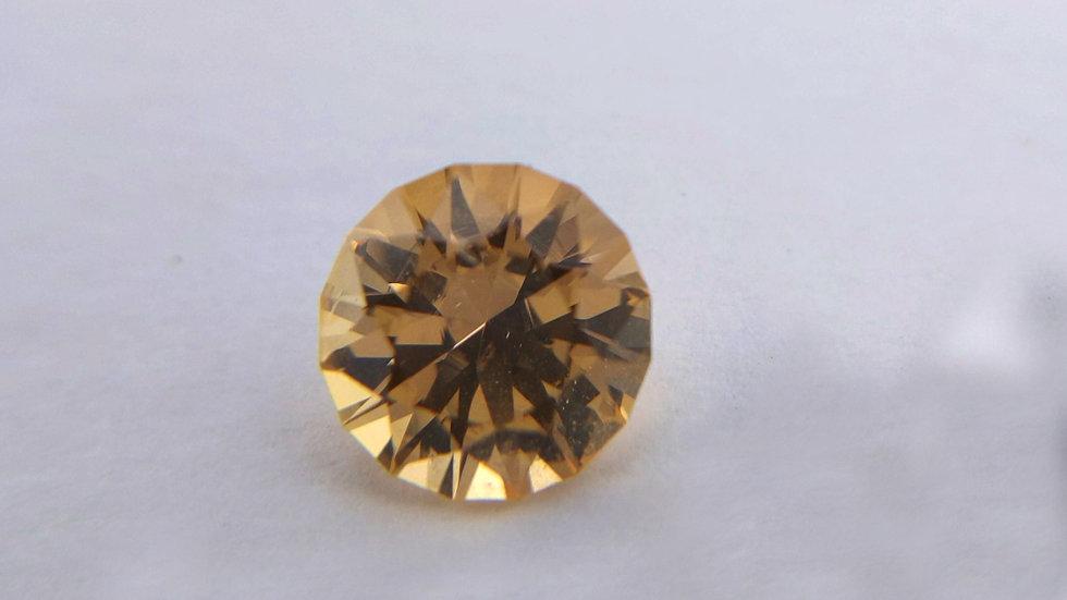 1.87 ct Precision Cut Round Golden Topaz