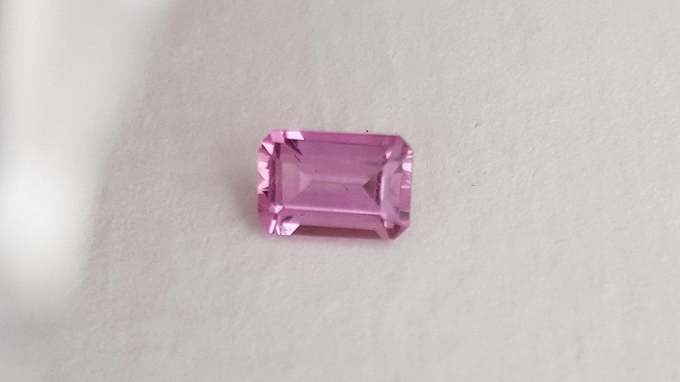 Emerald Cut Pink Topaz 0.75 ct