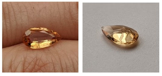 Teardrop Imperial Topaz, Untreated from Brazil