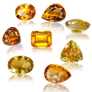 The various colors and cuts of citrine