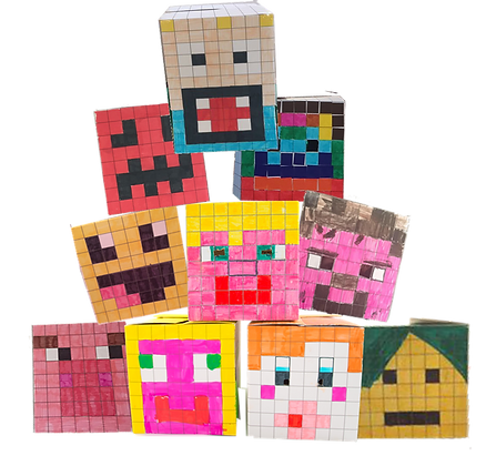 BoxHead Party Pack of 10 for the price of 8 For the perfect Minecraft party