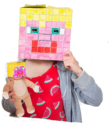 Blank BoxHead for gamers to design, decorate and play
