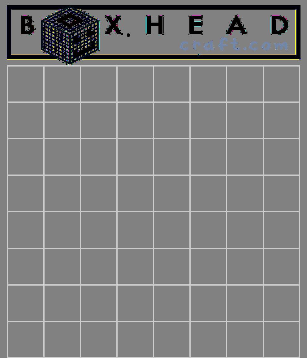 BoxHead Craft Blank Practice Templat