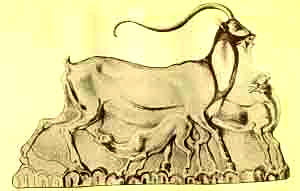 faience plaque from Knossos goat mother and kid