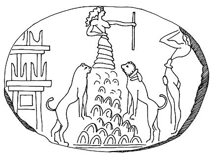 Peak Goddess seal impression from Knossos