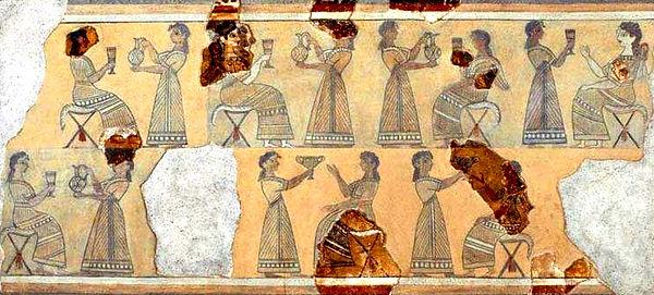 Camp Stool fresco from Knossos