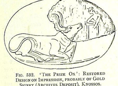 Friendly bulls in Minoan art: A god appears