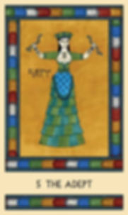 5 The Adept from the Minoan Tarot by Laura Perry
