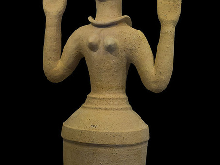 Minoan Bell Jar Goddesses: All the funny hats