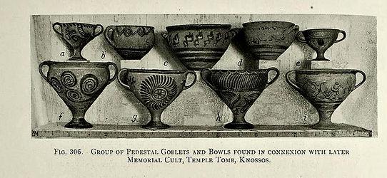 Minoan pedestal goblets